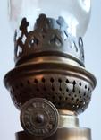 Керосиновая лампа латунная 1890-1910г-Германия, фото №5