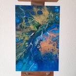 Картина/ живопис/ абстракція Fluid Art #74 acrylic, фото №2