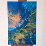Картина/ живопис/ абстракція Fluid Art #74 acrylic, фото №4