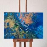 Картина/ живопис/ абстракція Fluid Art #74 acrylic, фото №5