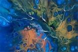 Картина/ живопис/ абстракція Fluid Art #74 acrylic, фото №8