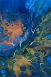 Картина/ живопис/ абстракція Fluid Art #74 acrylic, фото №9