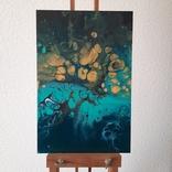 Картина/ живопис/ абстракція Fluid Art #76 acrylic, фото №2