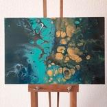 Картина/ живопис/ абстракція Fluid Art #76 acrylic, фото №3