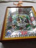 Икона под стеклом винтаж, фото №3