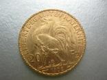 20 франков 1908 год Франция, фото №3