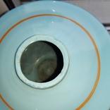 Керосиновая лампа Голубое стекло начало 20 века, фото №8