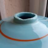 Керосиновая лампа Голубое стекло начало 20 века, фото №9