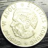 1 крона Швеція 1961 TS срібло, фото №3