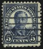 Cent Blue Roosevelt 10 перфораций сверху и снизу., фото №2