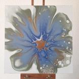 Картина/ живопис/ абстракція Fluid Art #78 acrylic, фото №5