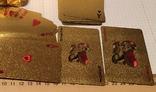Позолоченные игральные карты (24K) 500 евро / сувенірні гральні карти, 54 шт, фото №4