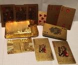 Позолоченные игральные карты (24K) 500 евро / сувенірні гральні карти, 54 шт, фото №6