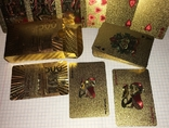 Позолоченные игральные карты (24K) 500 евро / сувенірні гральні карти, 54 шт, фото №7