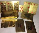 Позолоченные игральные карты (24K) 500 евро / сувенірні гральні карти, 54 шт, фото №2