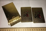 Позолоченные игральные карты (24K) 500 евро / сувенірні гральні карти, 54 шт, фото №10