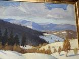 Зима в Карпатах 1954 год Народный художник УССР Кашшай Антон Михайлович (1921 - 1991), фото №11