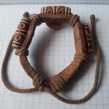 Кожаный браслет универсального размера, фото №2