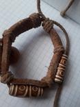 Кожаный браслет универсального размера, фото №5