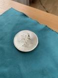 Канада 5 долларов 2020 унция серебро 999, фото №2