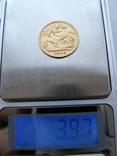 Золотая монета Полсоверена 1896 г. Королева Виктория, фото №7