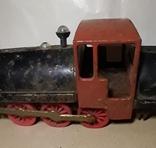 Железный Паровоз длина 27 см. СССР на реставрацию или запчасти, фото №3