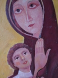 """Богородица"" к.м. 85х61см. 1997 г. Вл. Афанасьев, фото №4"