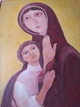 """Богородица"" к.м. 85х61см. 1997 г. Вл. Афанасьев, фото №9"