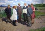 Картина СССР На рабочей планерке 1974 год, Янин Анатолий Александрович (1929-2001), фото №3