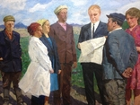 Картина СССР На рабочей планерке 1974 год, Янин Анатолий Александрович (1929-2001), фото №4