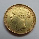 1 фунт (соверен) 1879 г. Австралия, фото №2