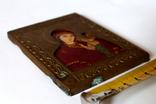 Богородица Казанская (7,8 см х 10 см) под реставрацию, фото №4