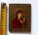 Богородица Казанская (7,8 см х 10 см) под реставрацию, фото №7