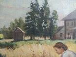 Картина Сельская жизнь 1960 годов . Копия, фото №5
