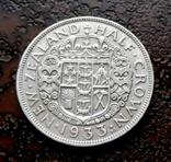 1/2 кроны Новая Зеландия 1933 серебро, фото №3