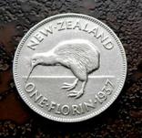 Флорин Новая Зеландия 1937 состояние серебро, фото №3