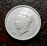 1 шиллинг Фиджи 1937 состояние серебро, фото №2