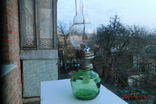 Старая стеклянная керосиновая лампа, фото №2