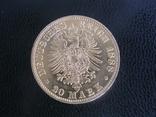 20 Марок 1888, Германия, Пруссия, Фридрих, фото №3