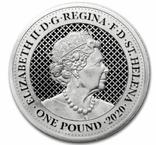 Павлин 1 фунт 2020 Серебро 1oz 999, фото №3