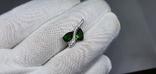 Серебряная подвеска с природными хром диопсидами в позолоте, фото №2