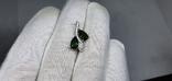 Серебряная подвеска с природными хром диопсидами в позолоте, фото №4