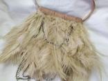 Фирменная сумочка Karen Millen с перьями страуса. Англия. Без ручки 22х18см, фото №3