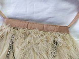 Фирменная сумочка Karen Millen с перьями страуса. Англия. Без ручки 22х18см, фото №6
