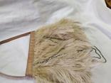 Фирменная сумочка Karen Millen с перьями страуса. Англия. Без ручки 22х18см, фото №7