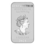 Срібний злиток Дракон 2021 Австралія 1 унція, фото №3