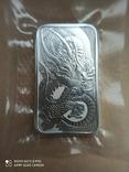 Срібний злиток Дракон 2021 Австралія 1 унція, фото №4