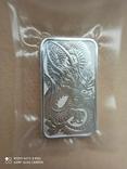 Срібний злиток Дракон 2021 Австралія 1 унція, фото №6
