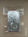 Срібний злиток Дракон 2021 Австралія 1 унція, фото №9