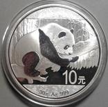 Китай 10 юаней 2016 г. Панда (серебро 999 пробы , 30 гр.), фото №2